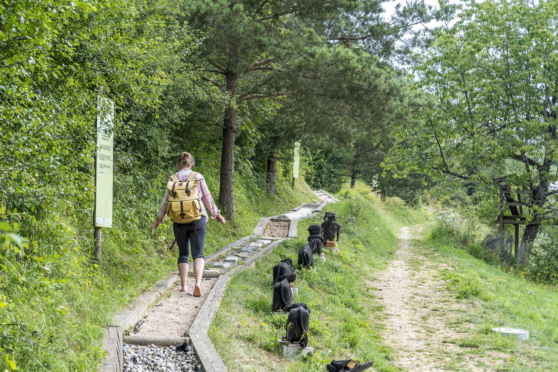 Anlage Sentier Pieds Nus Jura