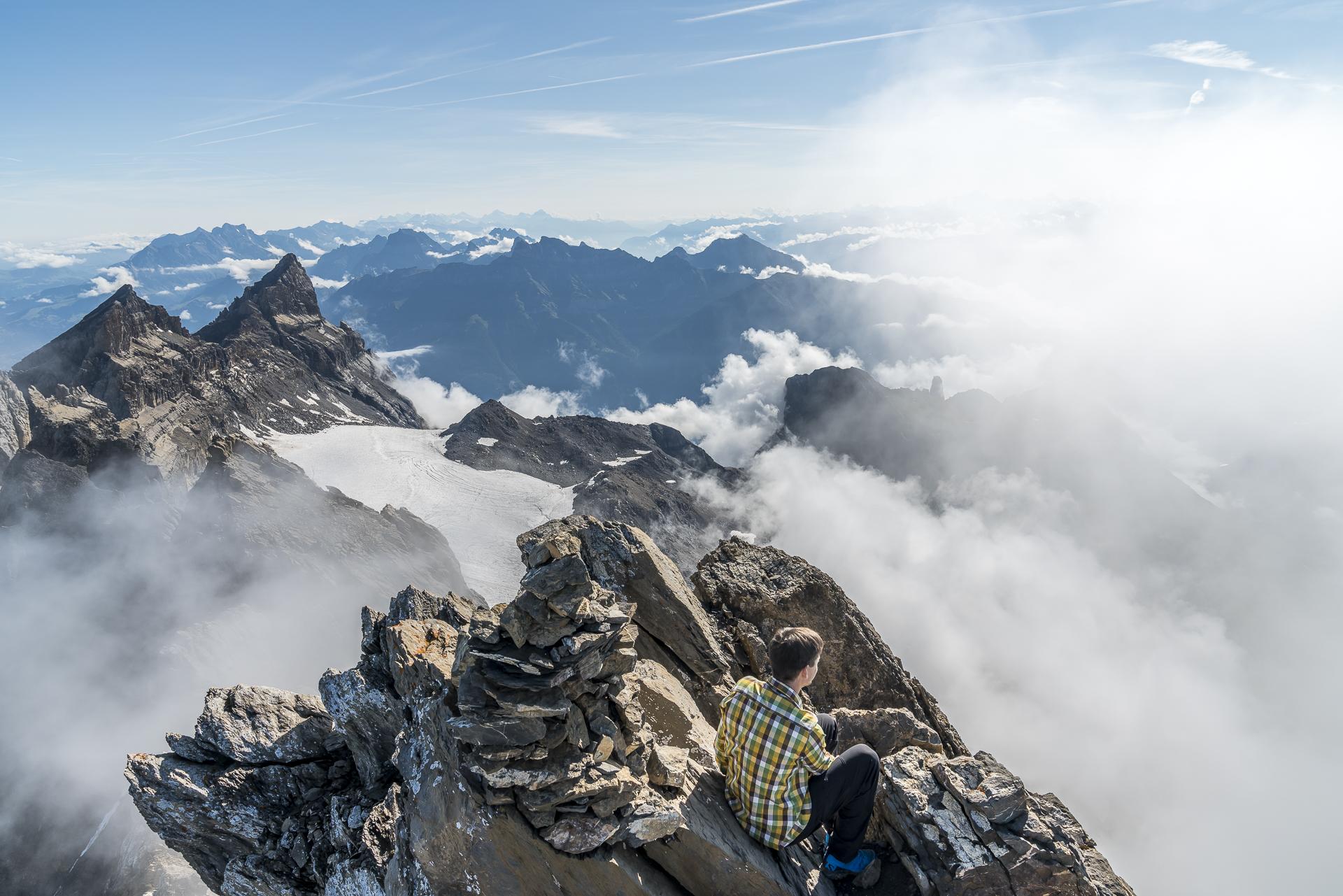 Aussicht Gipfel Haute Cime