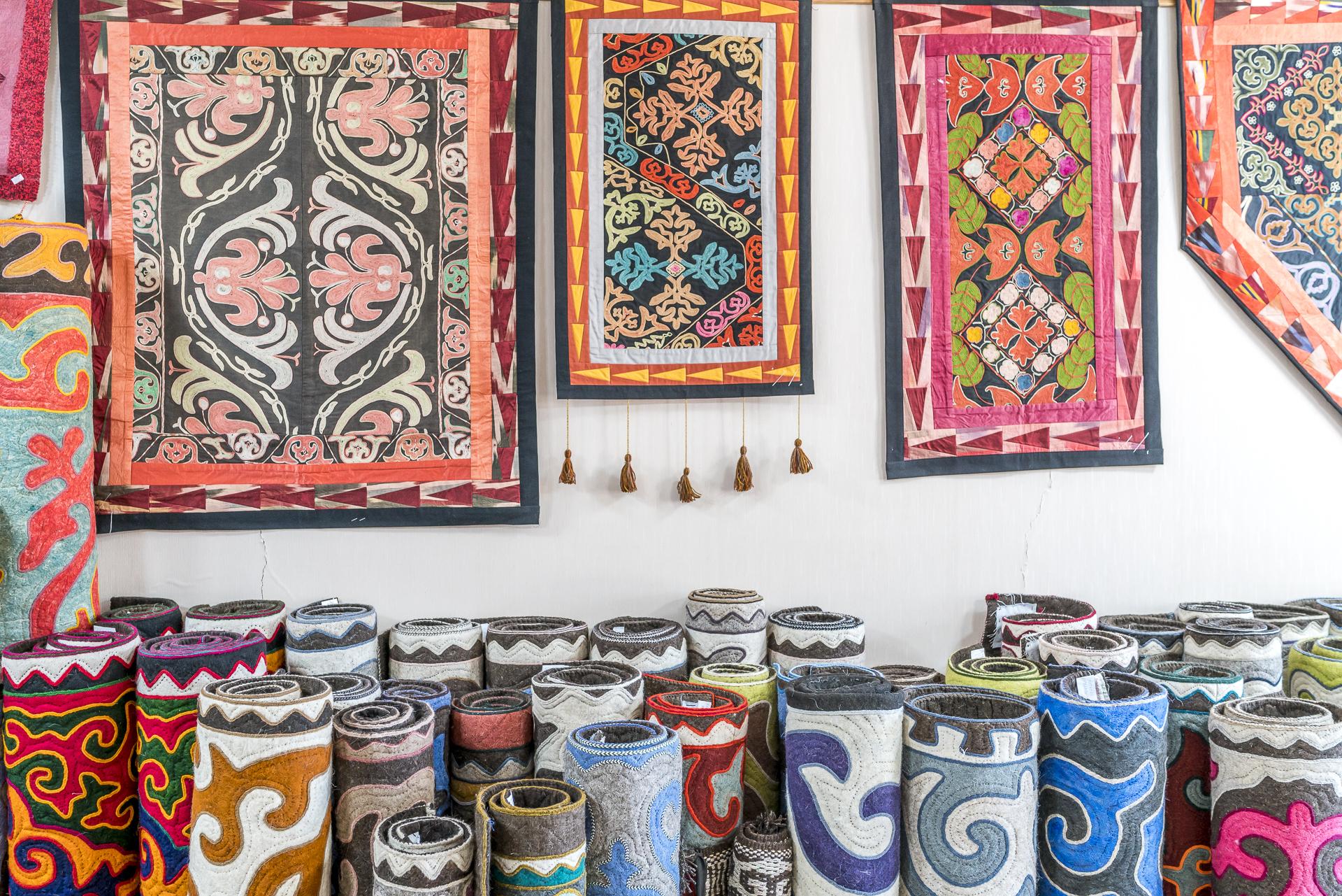 Filzteppiche in Kirgistan