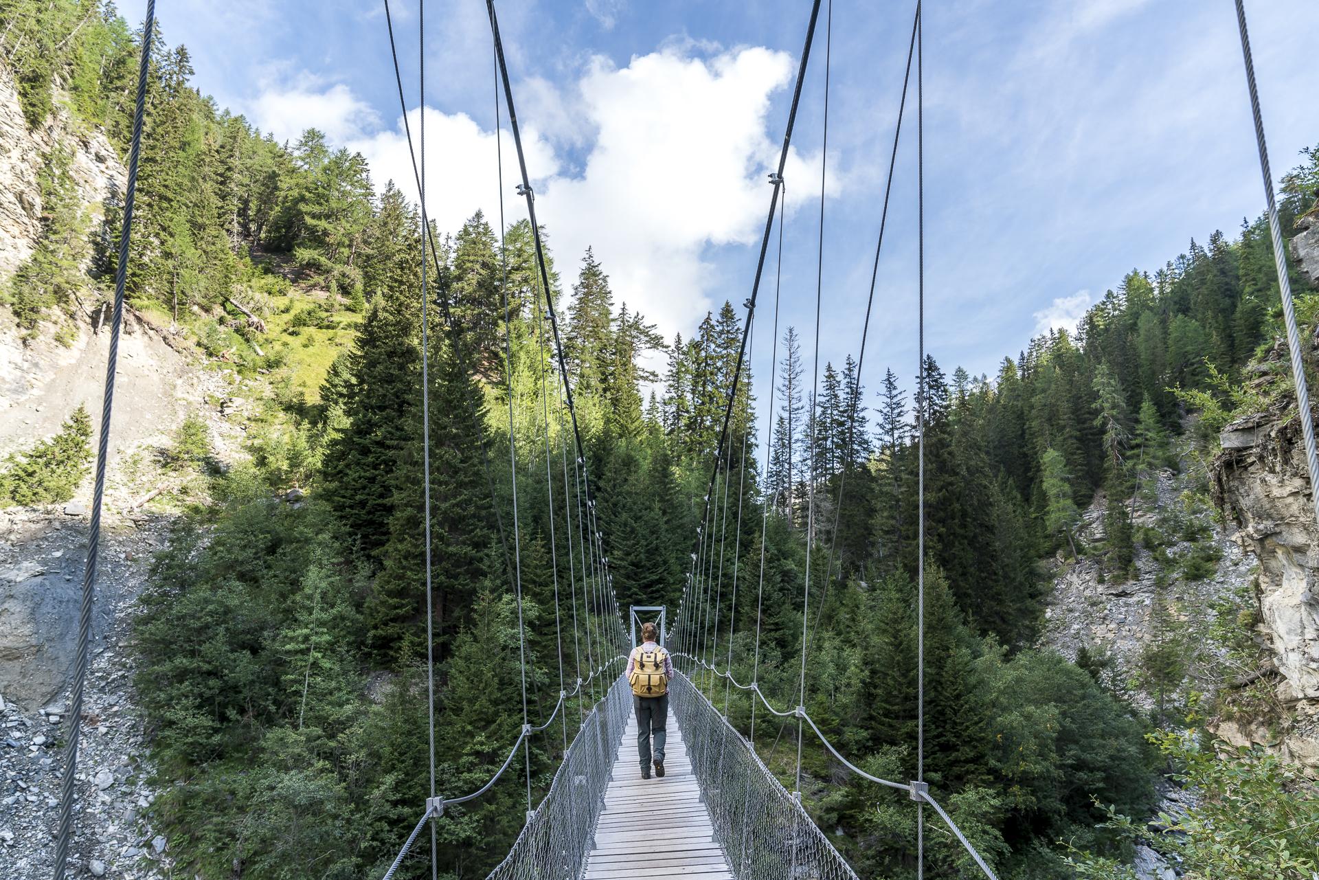 Hängebrückenweg Val Sinestra