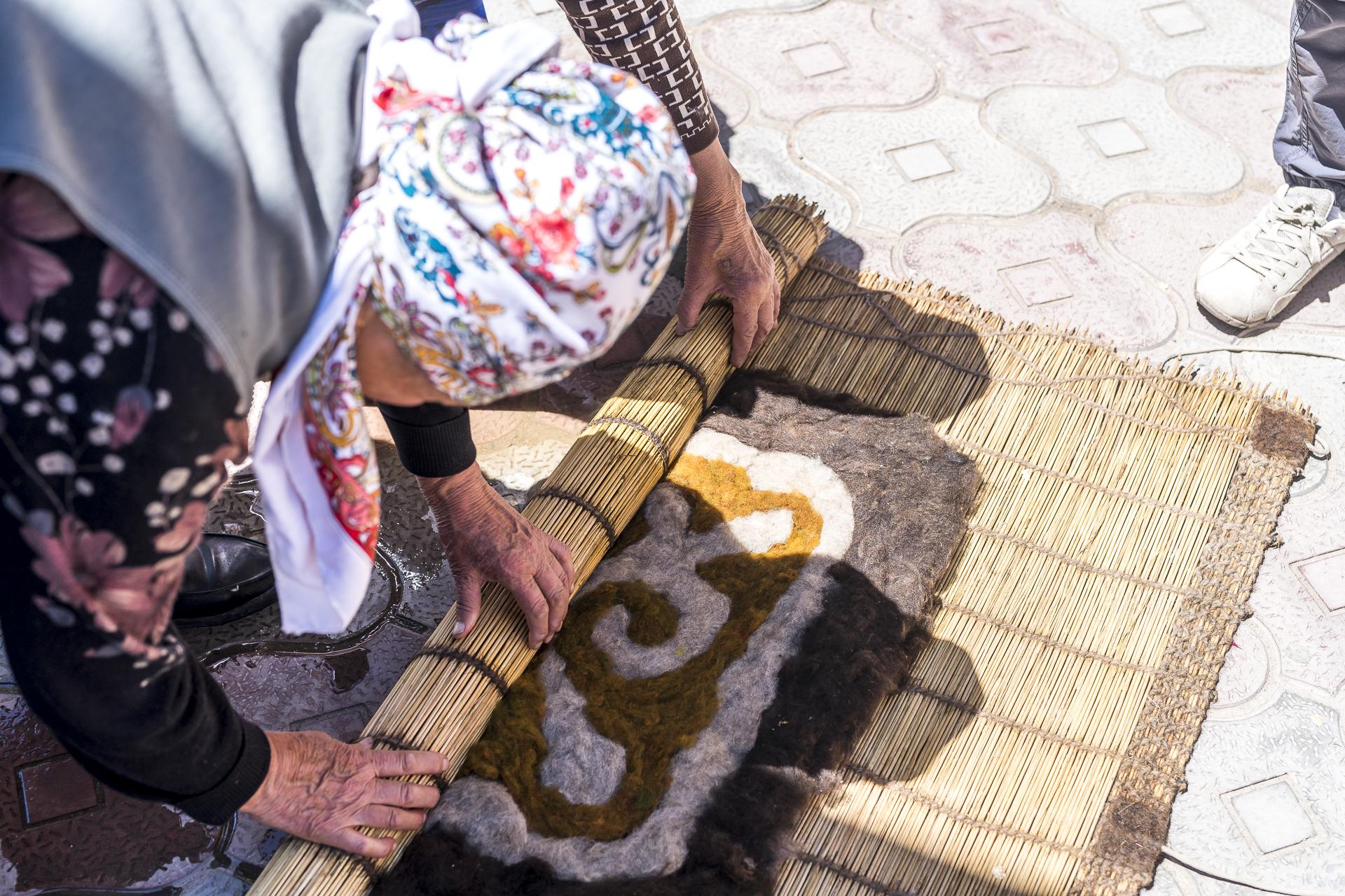 Kirgistan Filzhandwerk