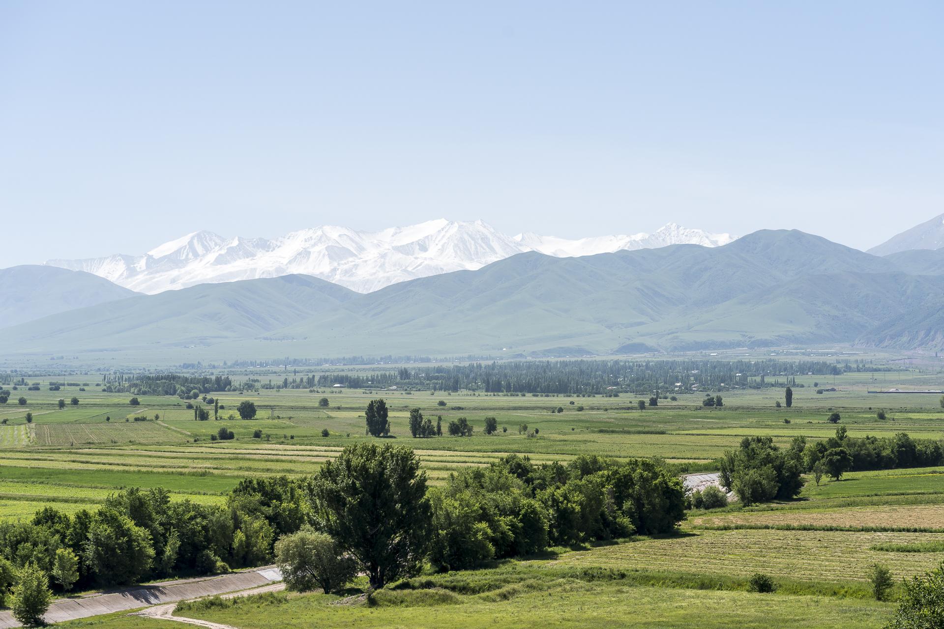 fruchtbare Felder in Kirgistan