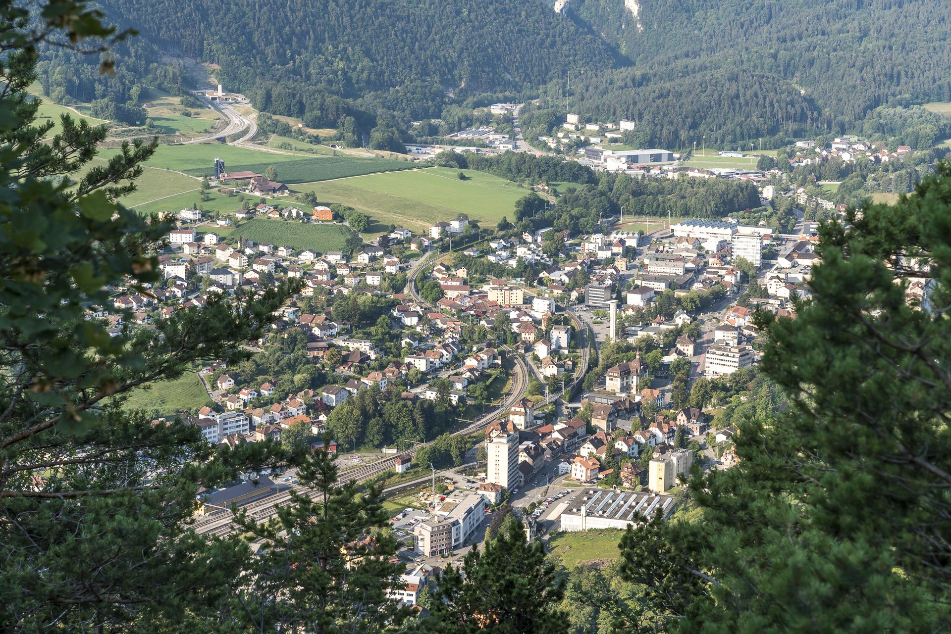 Ausblick auf Moutier