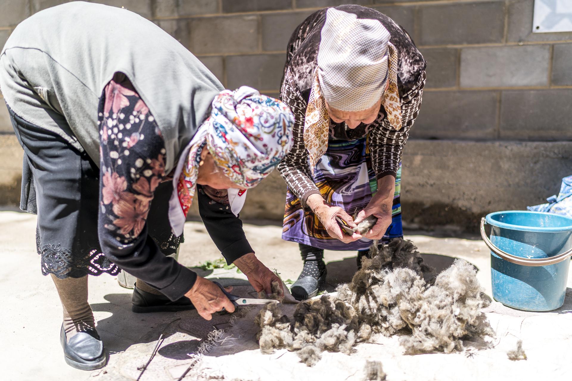 Filzproduktion in Kochkor