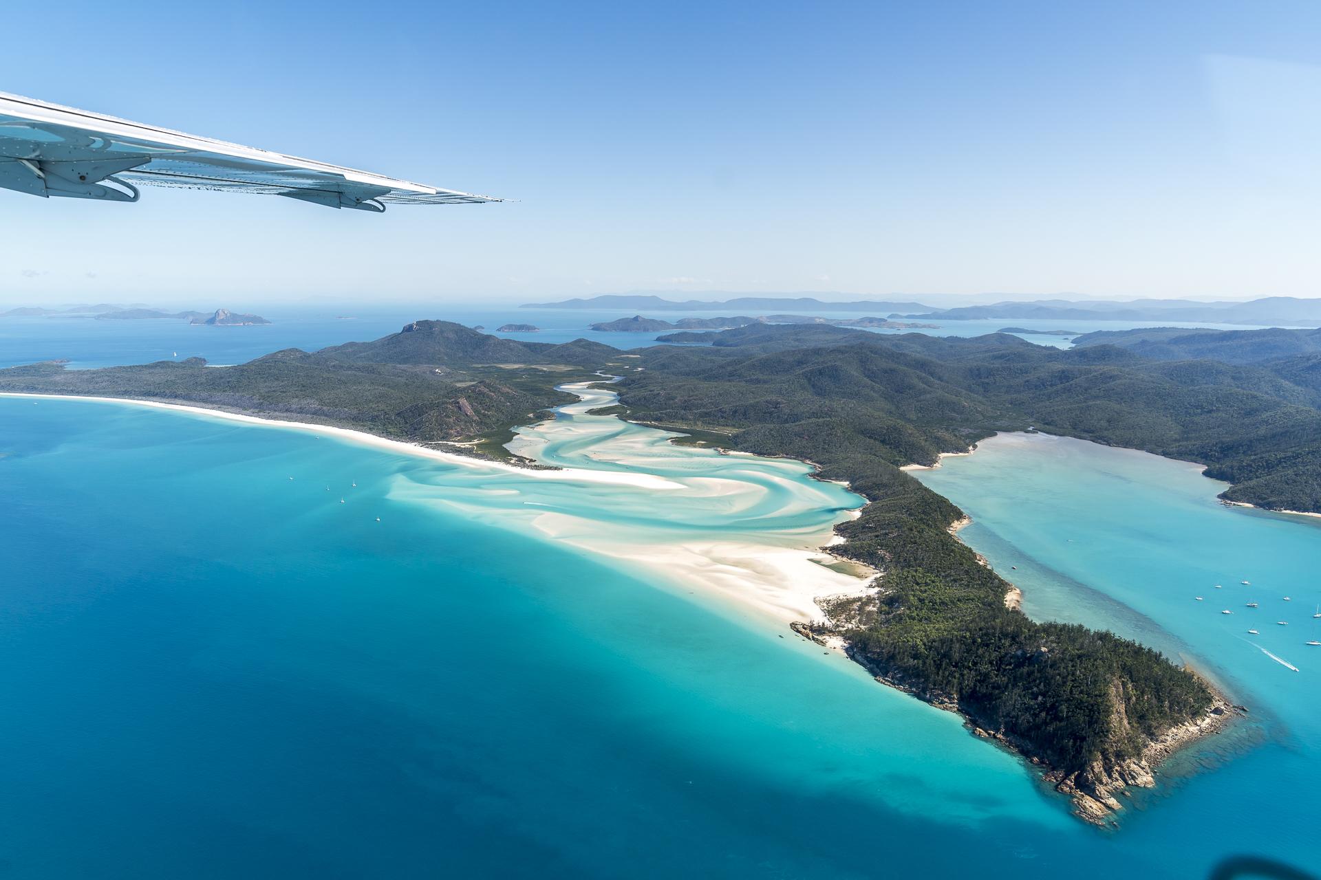 Flight over Whitsunday Islands