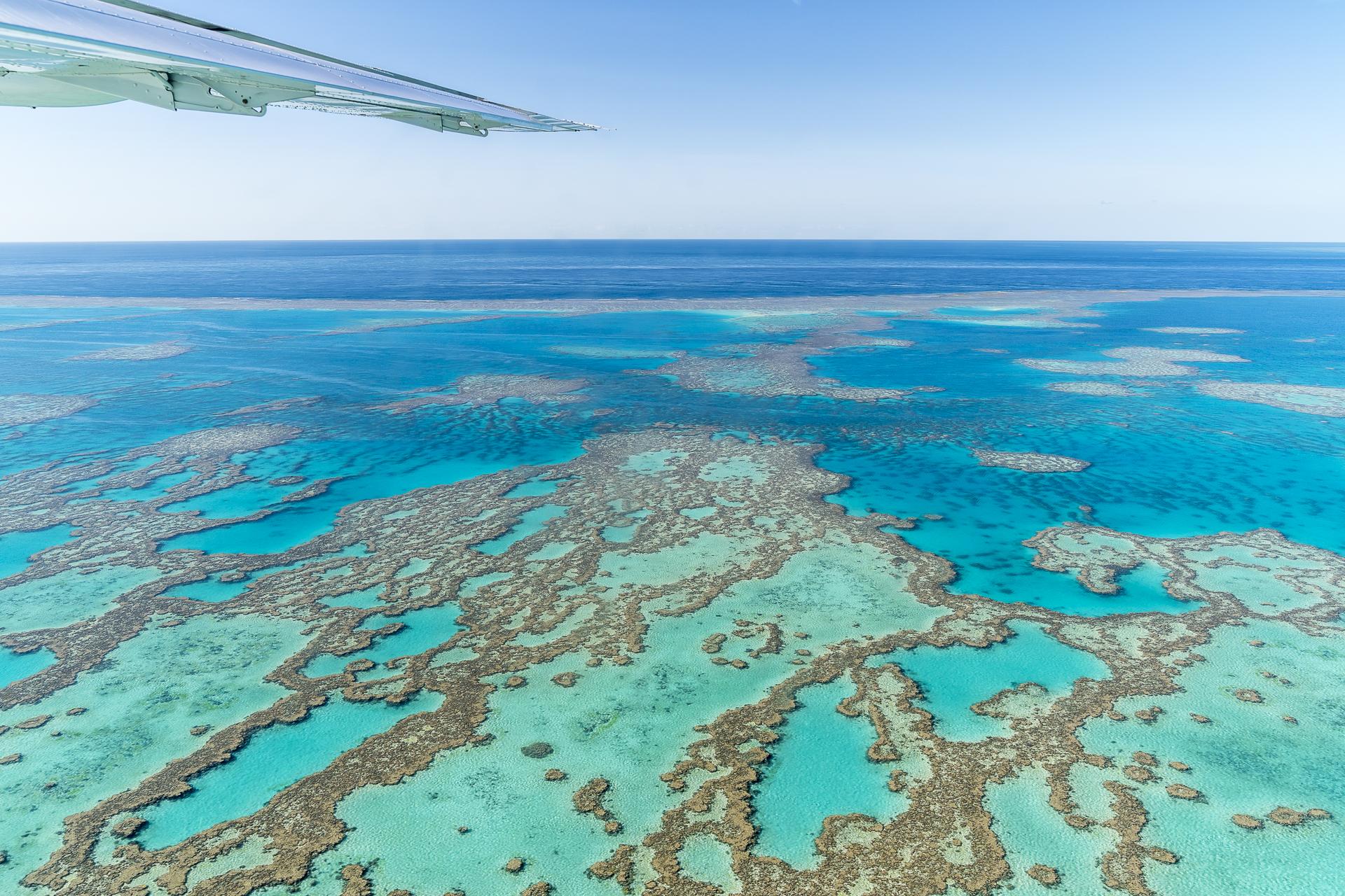 Flug übers Great Barrier Reef