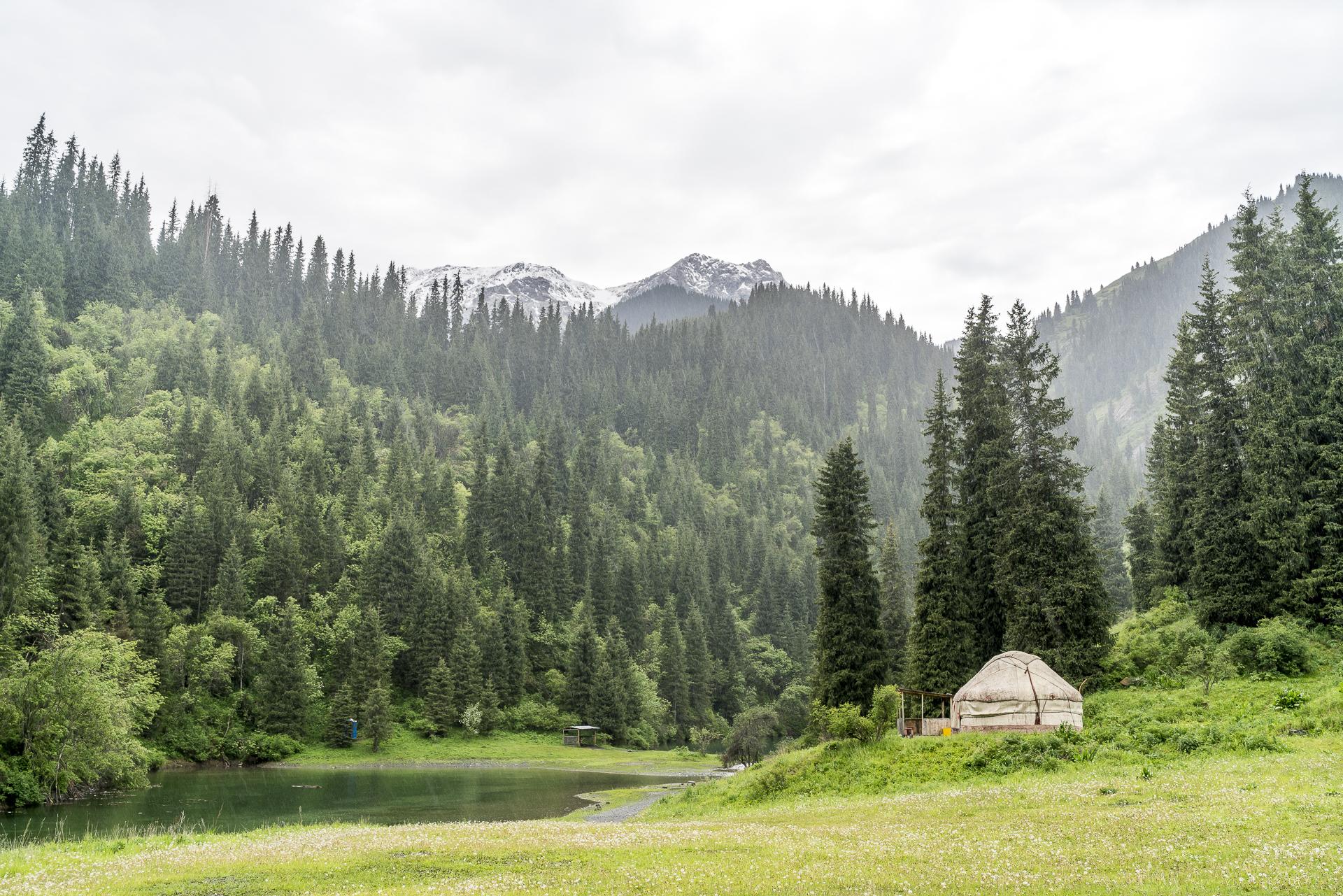 Jurte Kasachische Alpen