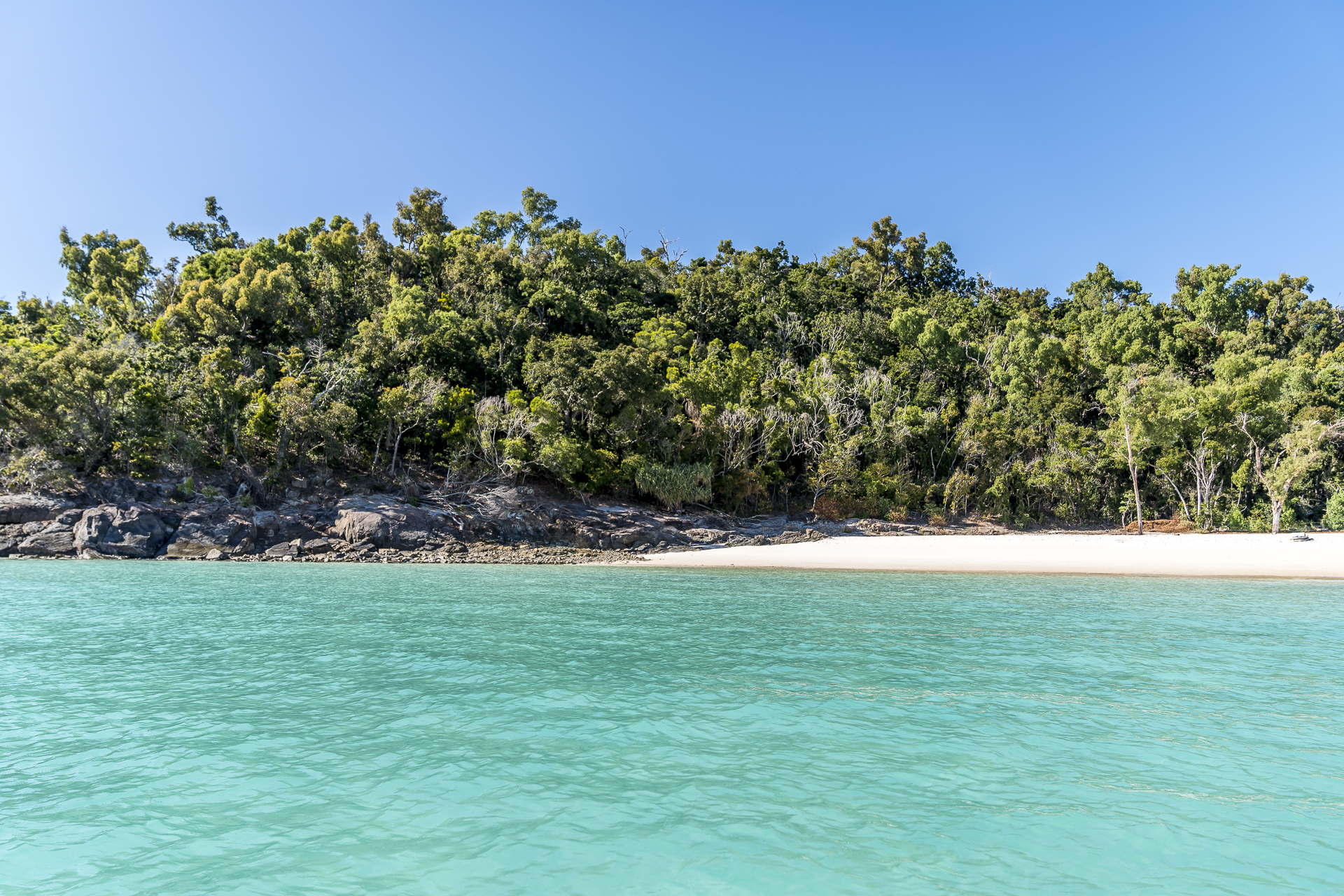 Landing Whitehaven Beach
