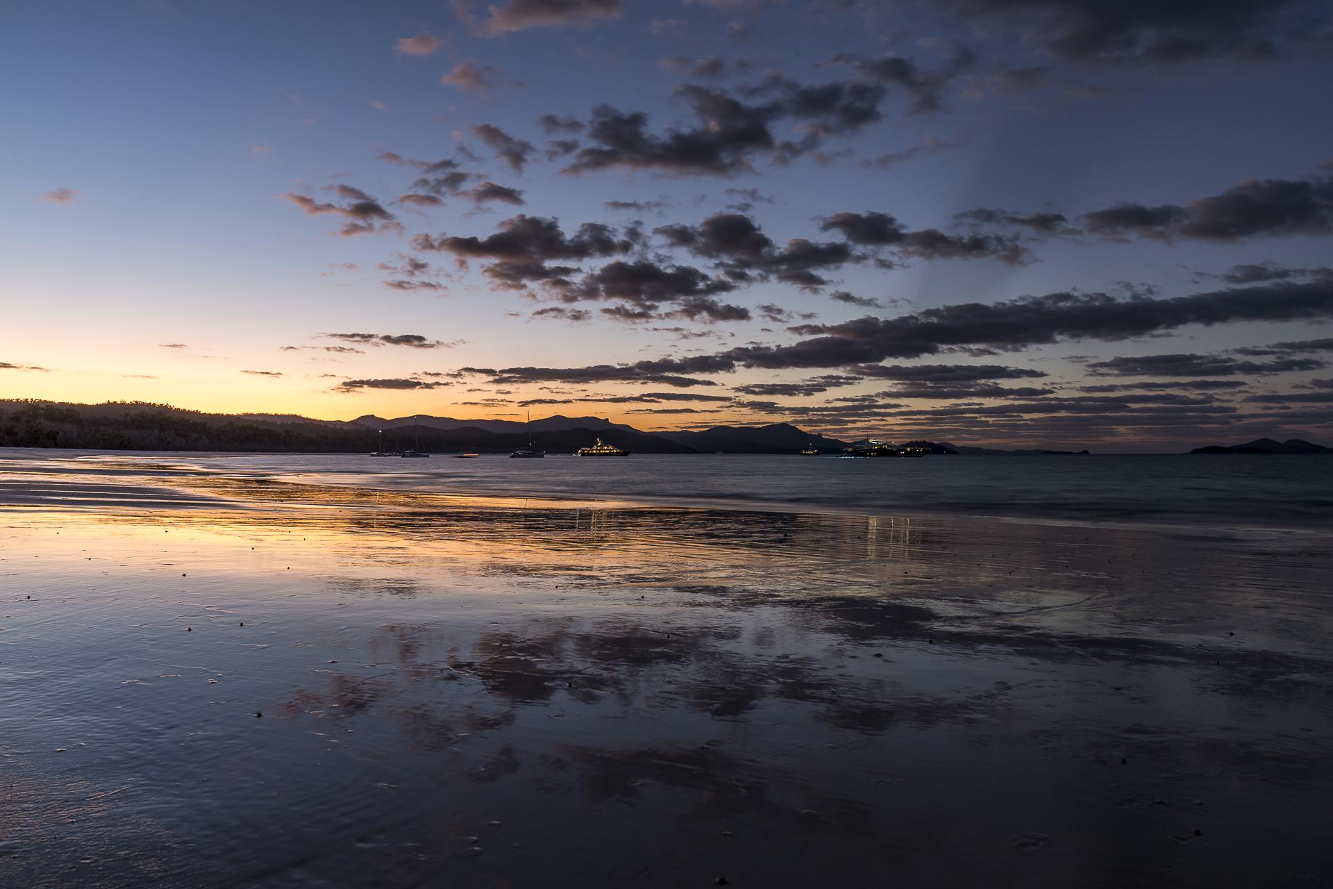 Whitehaven Beach Abendstimmung