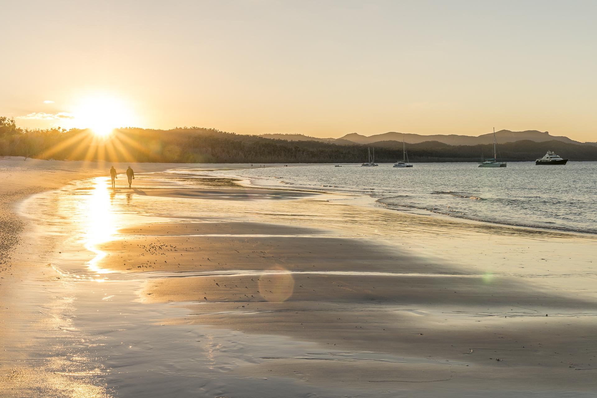 Whitehaven Beach Sonnenuntergang