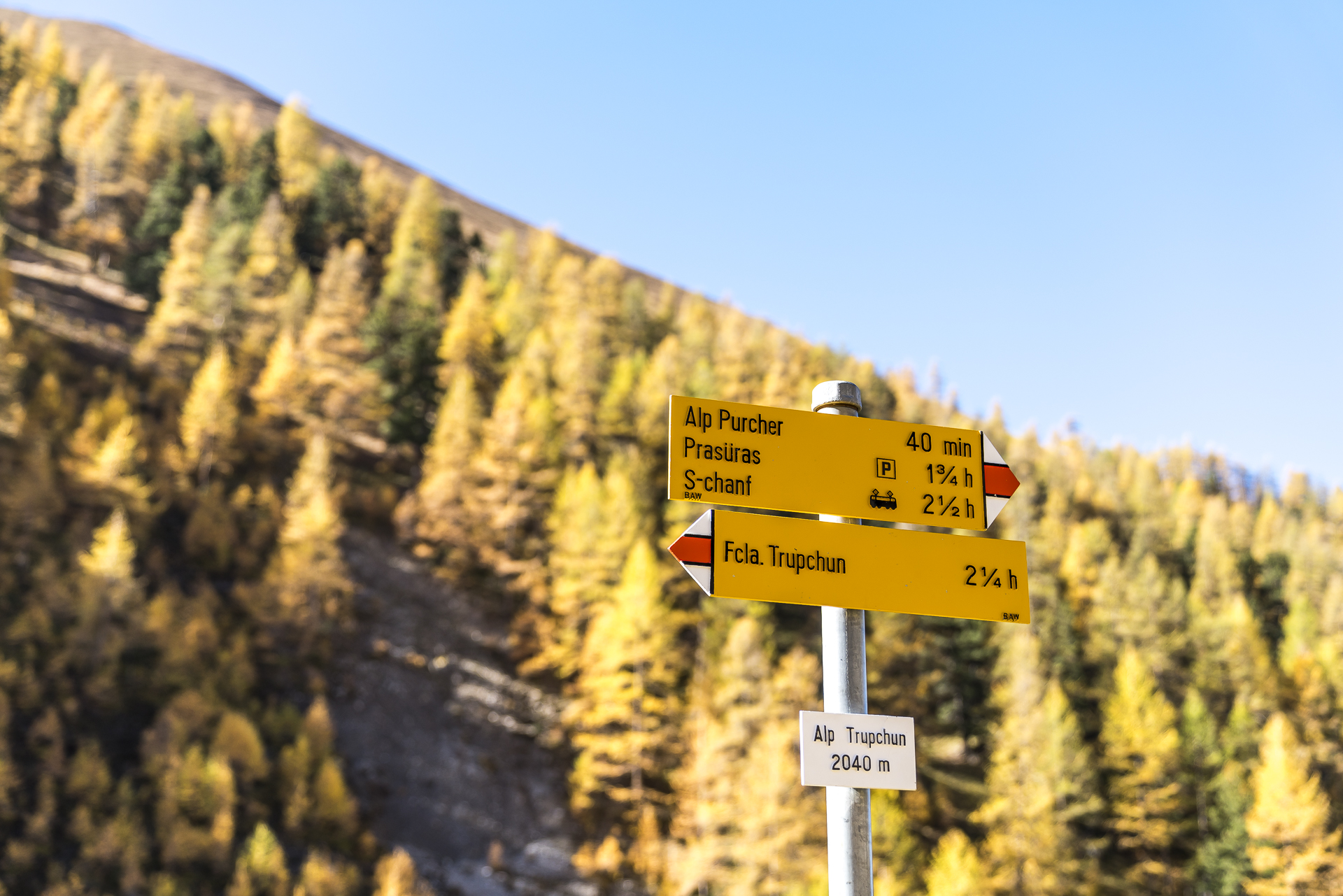 Alp Trupchun Wanderweg