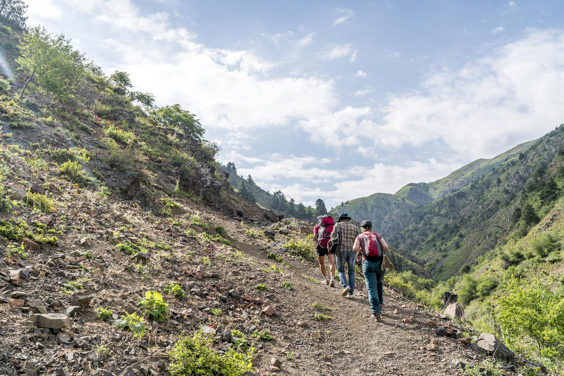 Aufstieg Mirzbay Pass