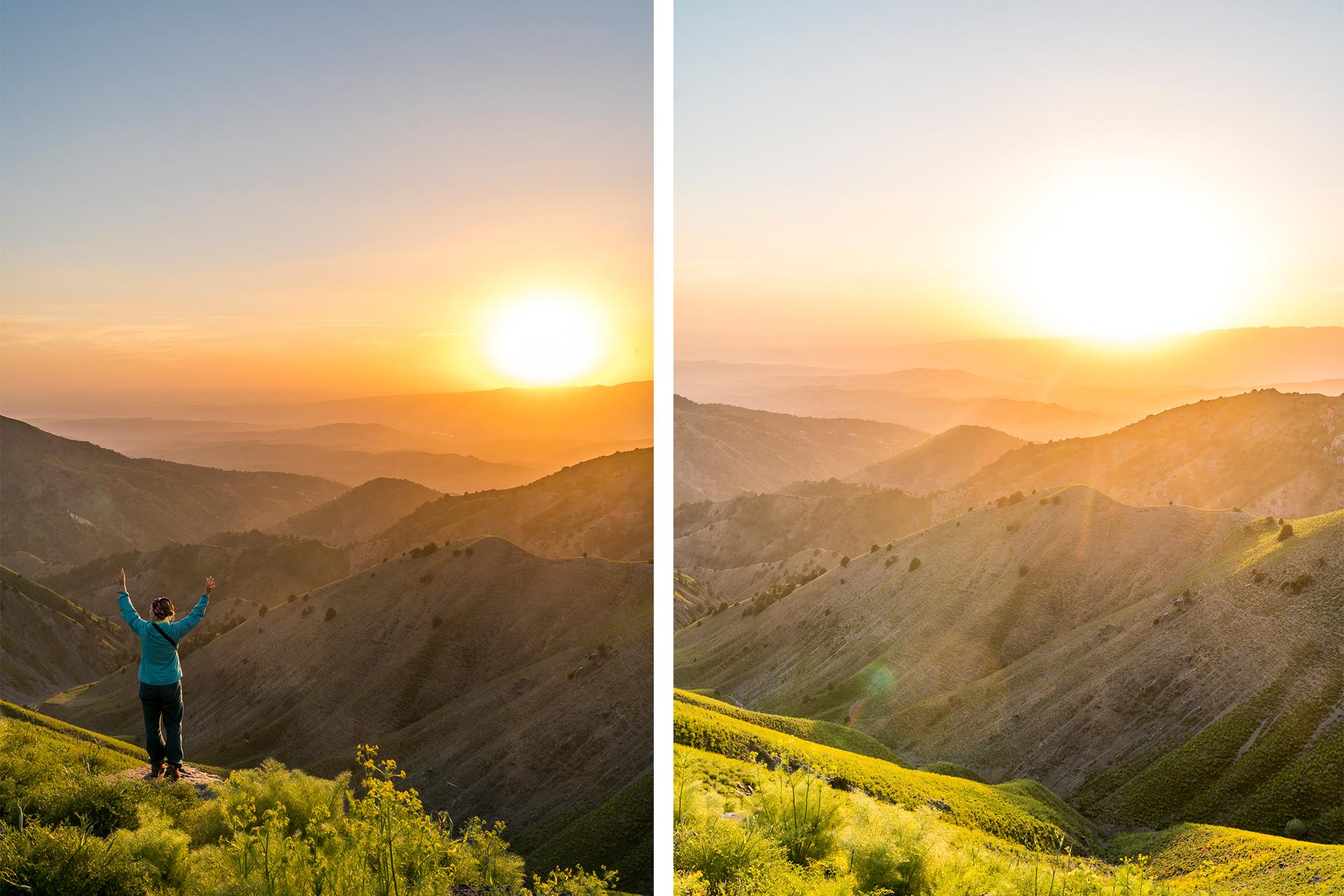 Sonnenuntergang Chimgan Gebirge