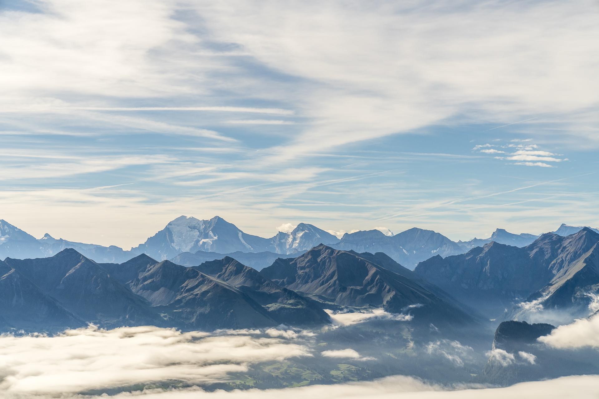 Stockhorn Aussicht Eiger Mönch Jungfrau