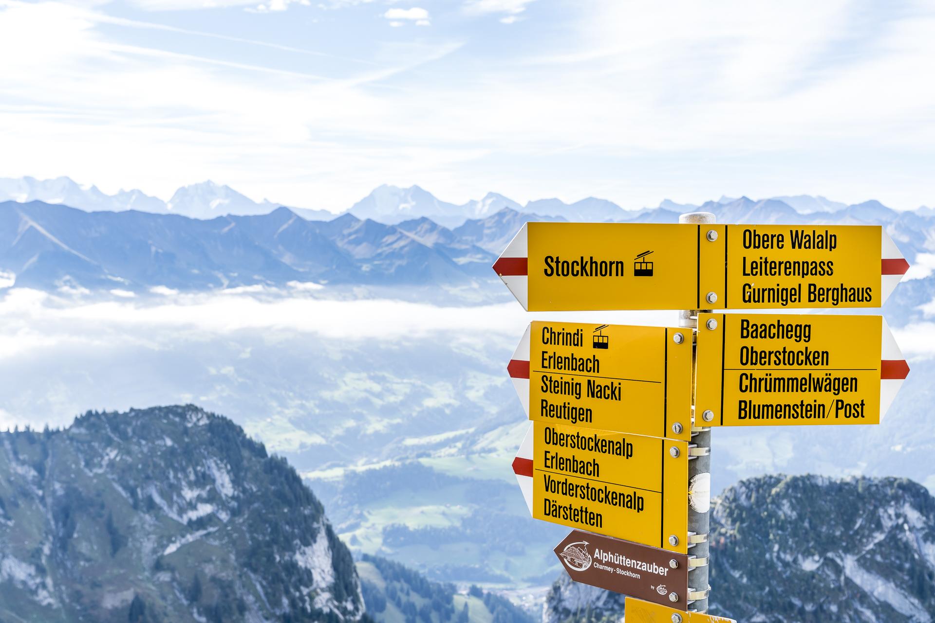 Stockhorn Wanderwege