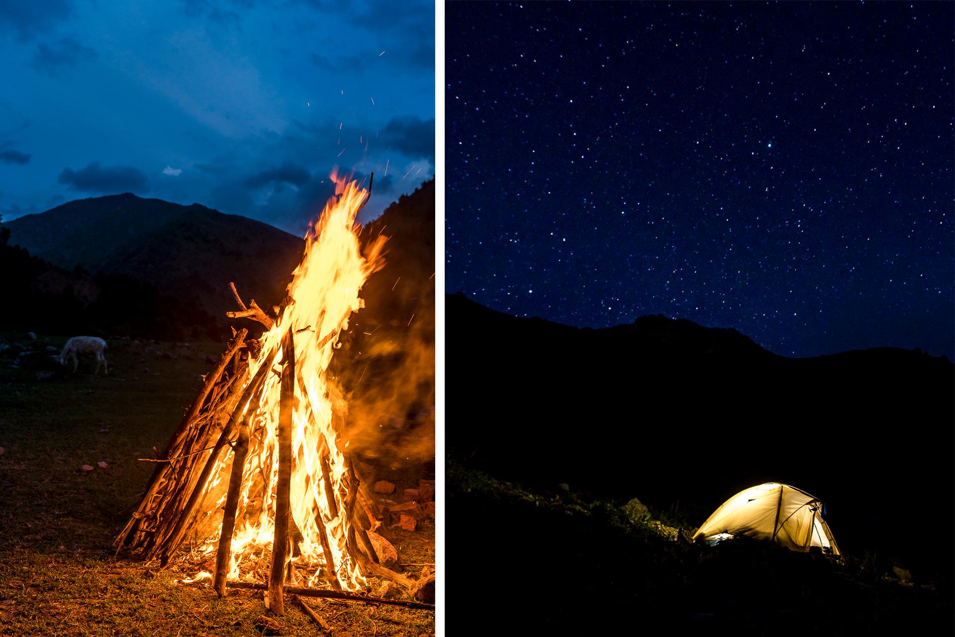 Trekking in Usbekistan Zeltlager