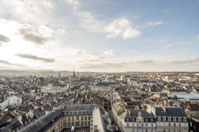 Panoramablick über Dijon