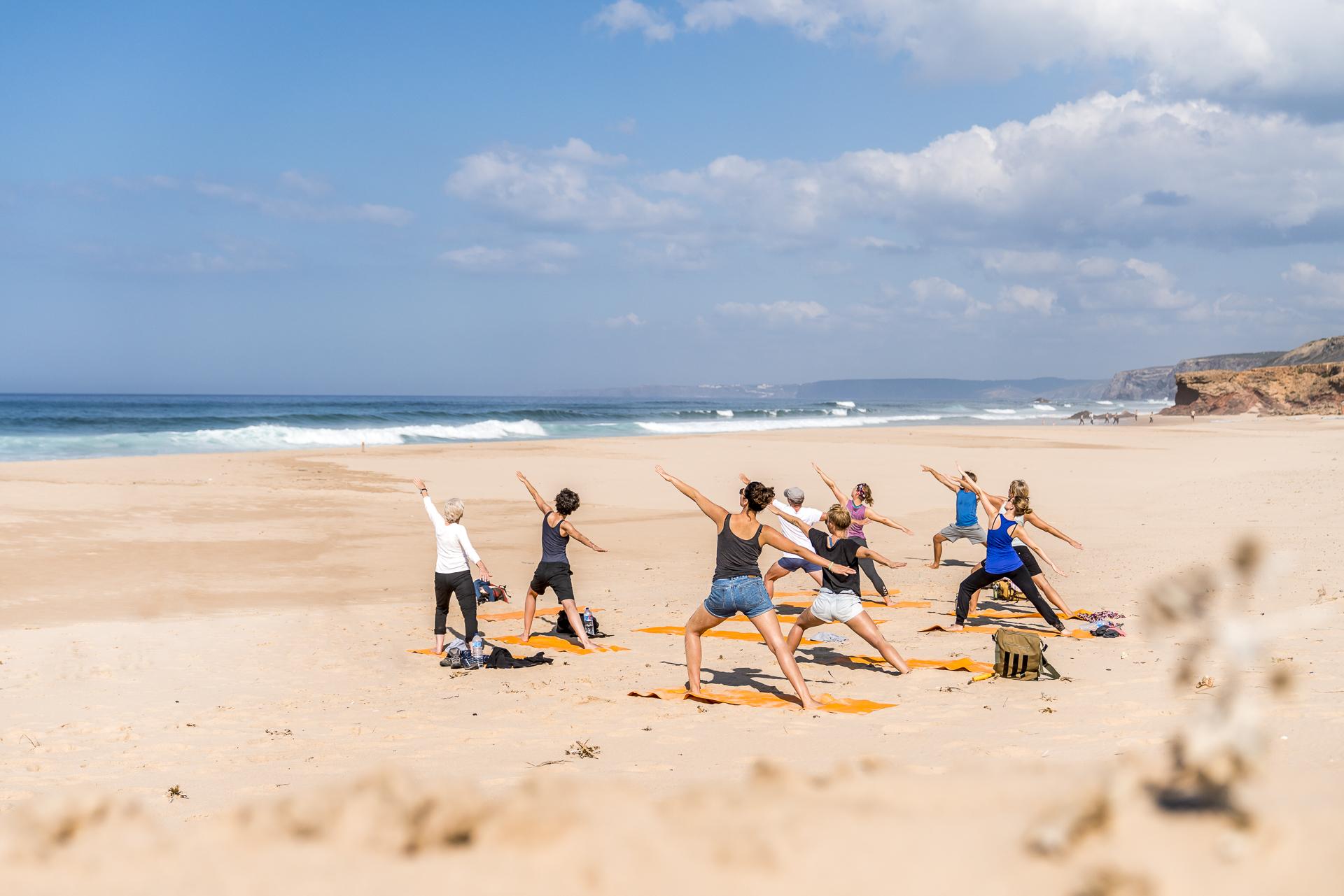 Yoga am Praia da Bordeira