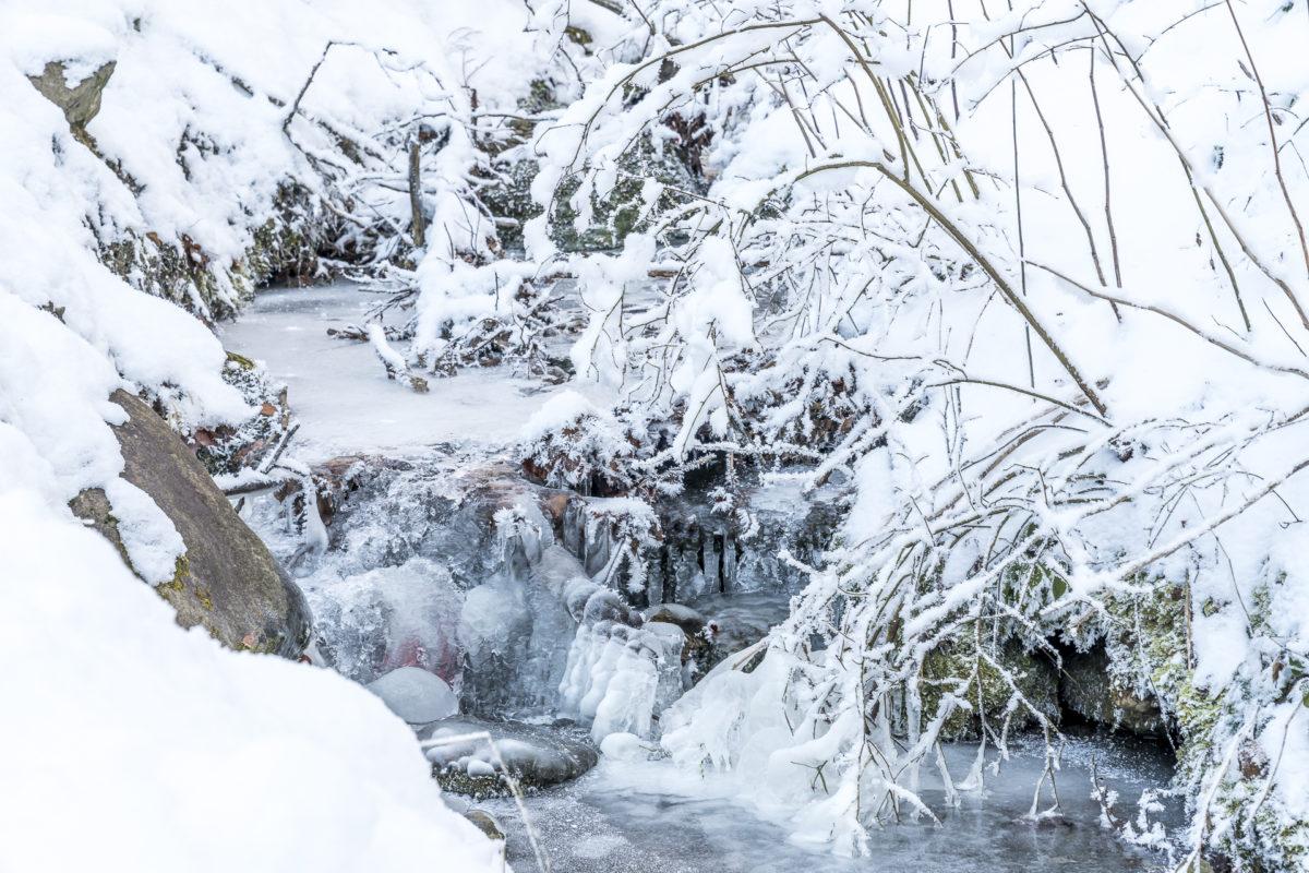 Breitach im Winter