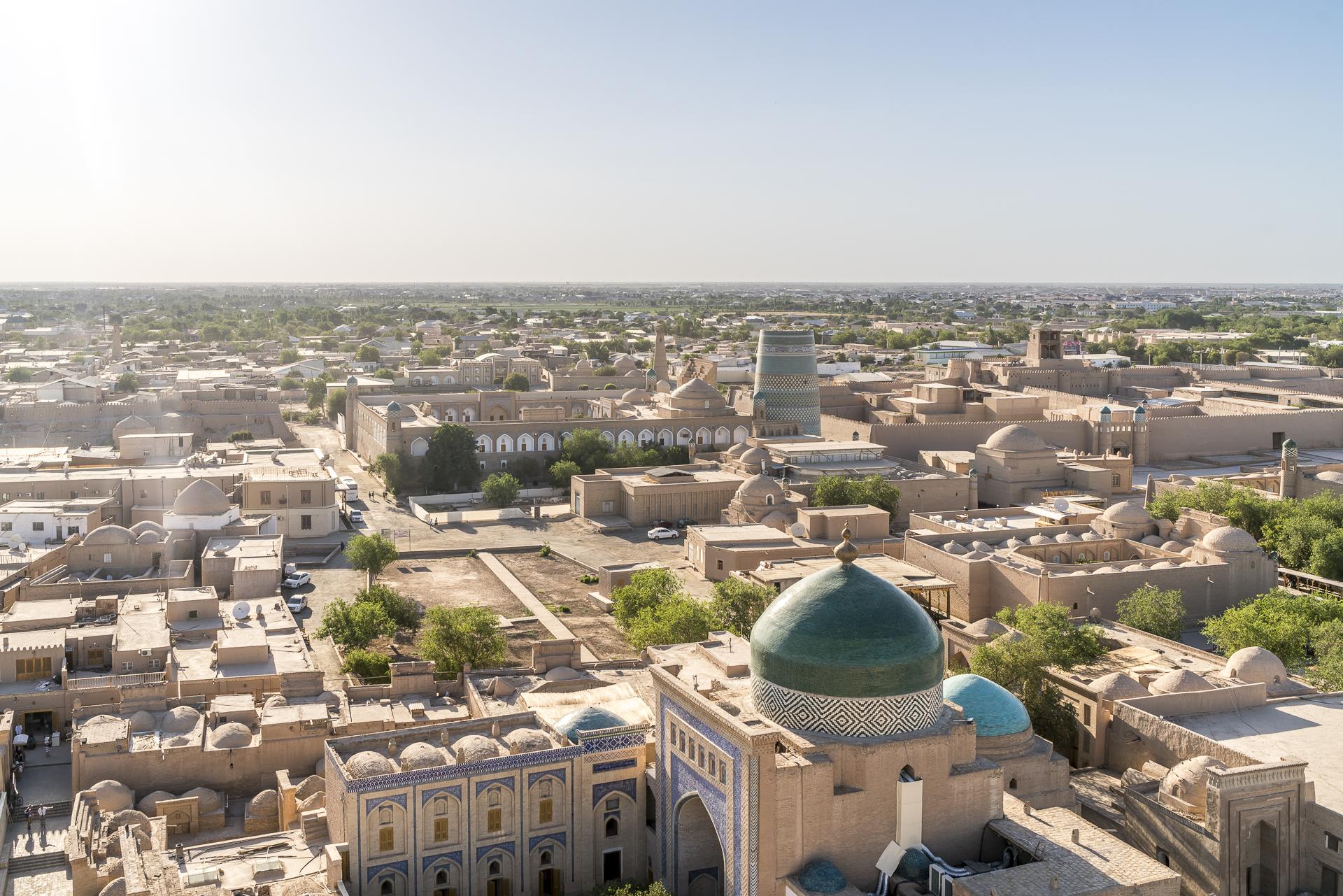 Chiwa Aussicht Islam Hodscha Minarett