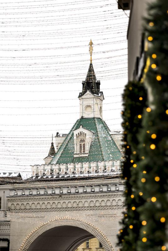 Moskau Weihnachtsdeko