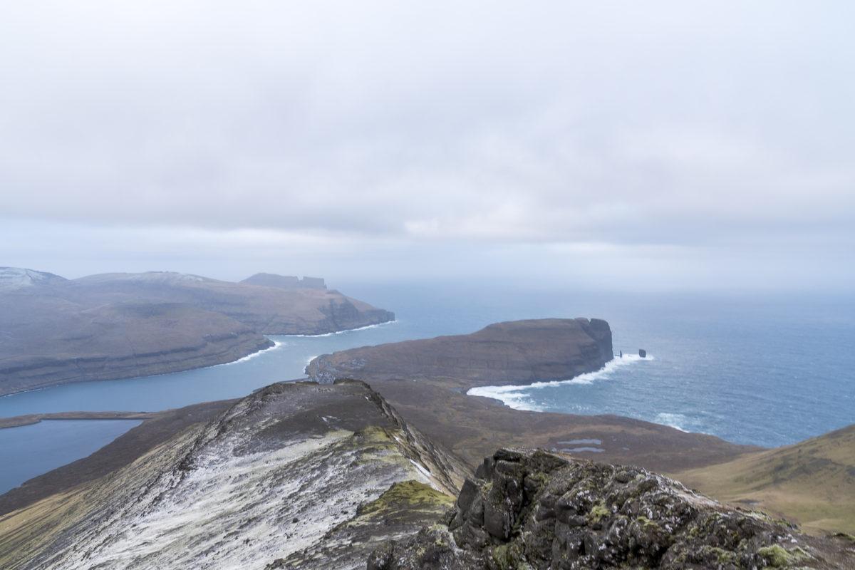 Aufstieg höchster Berg Färöer-Inseln