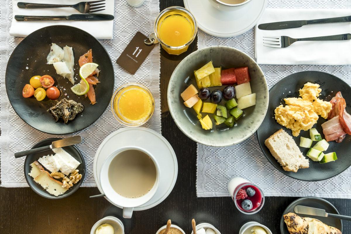 Frühstück im Casa de Sao Lourenco