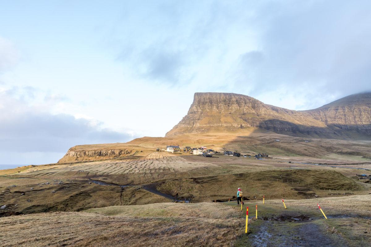 Wanderwegmarkierungen Färöer