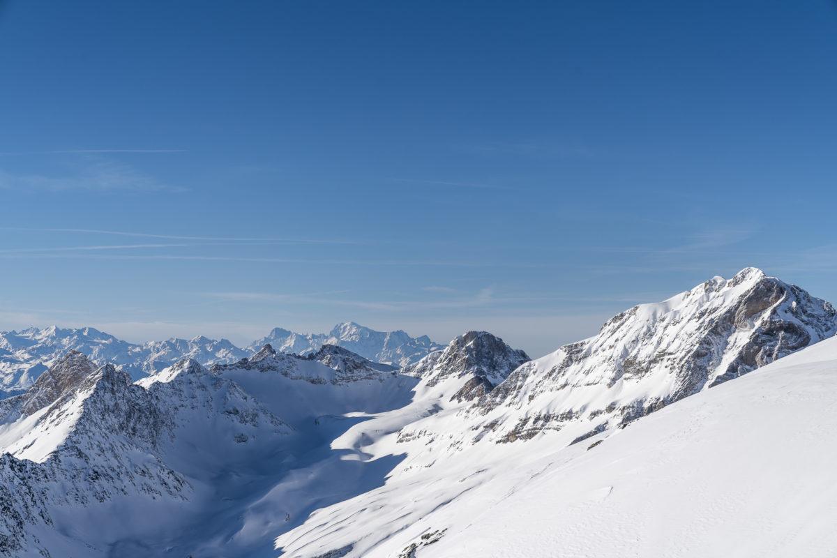 Bergpanorama Lauchernalp Hockenhorngrat