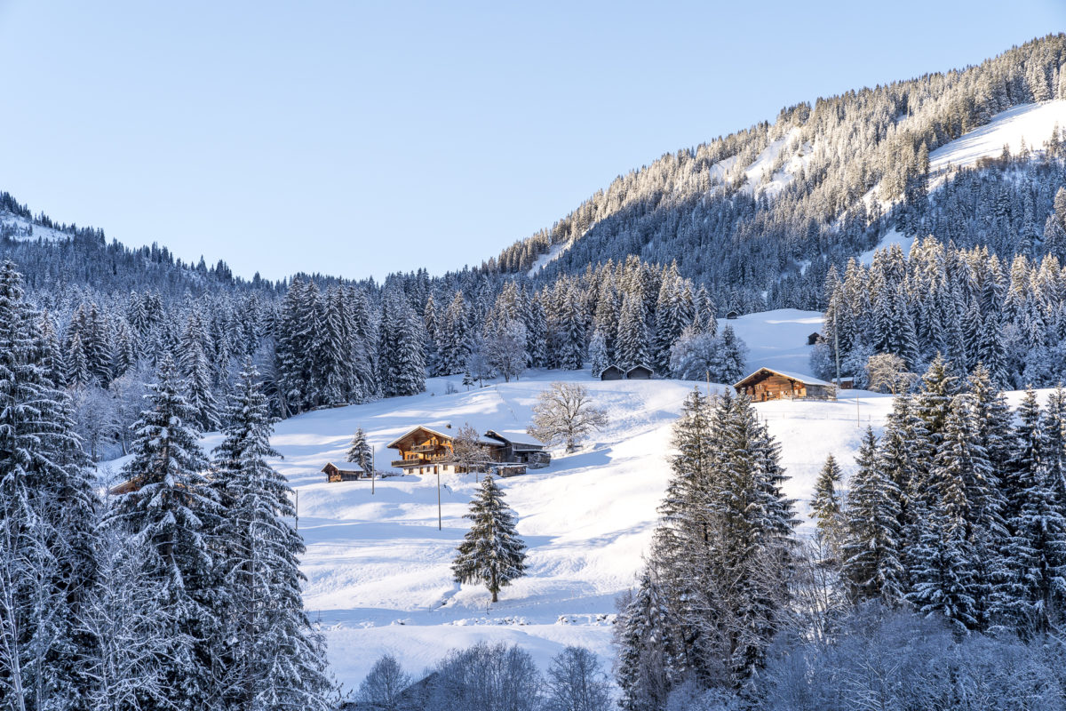 Gstaad Lauenen Winter