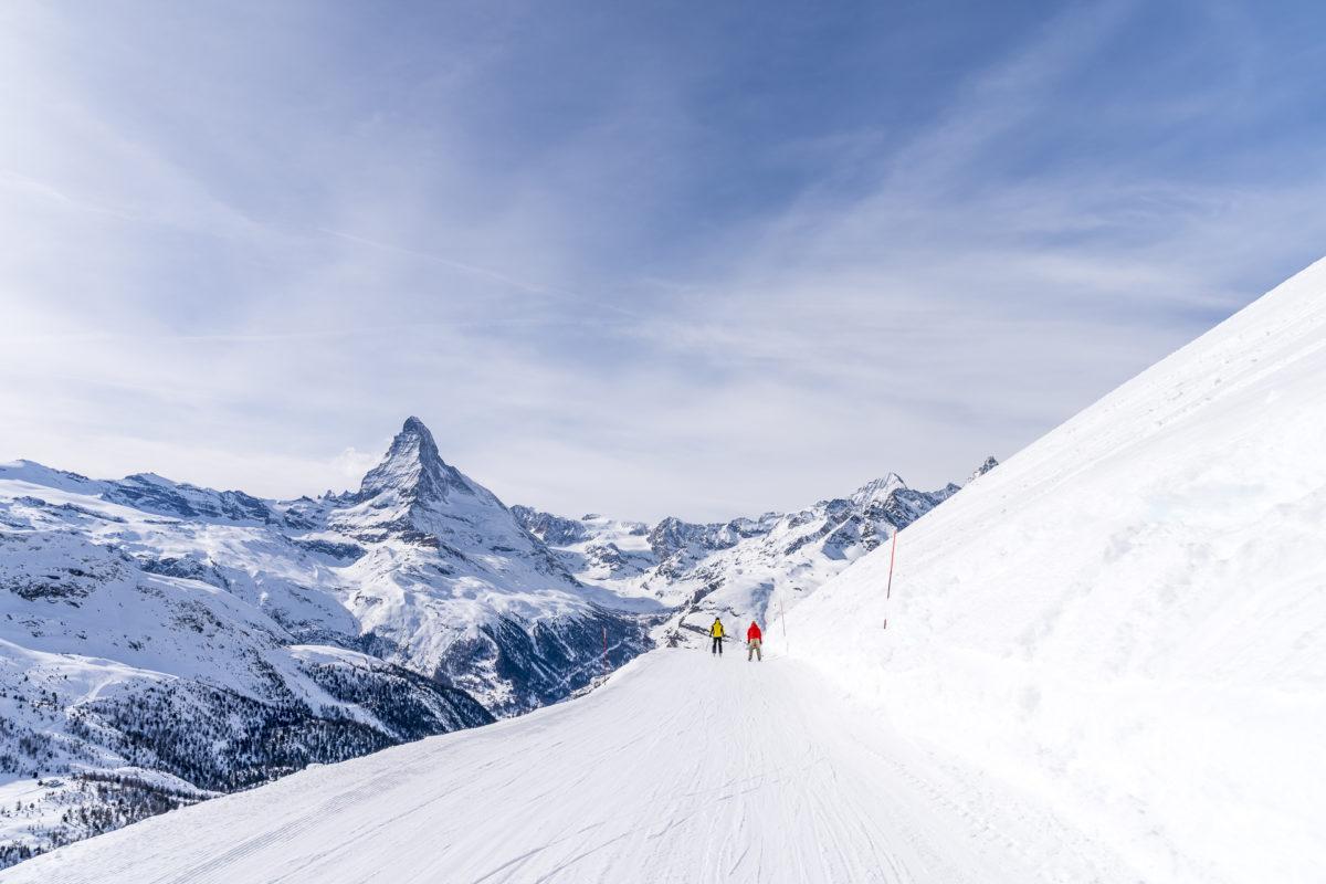 Rothorn Abfahrt Zermatt
