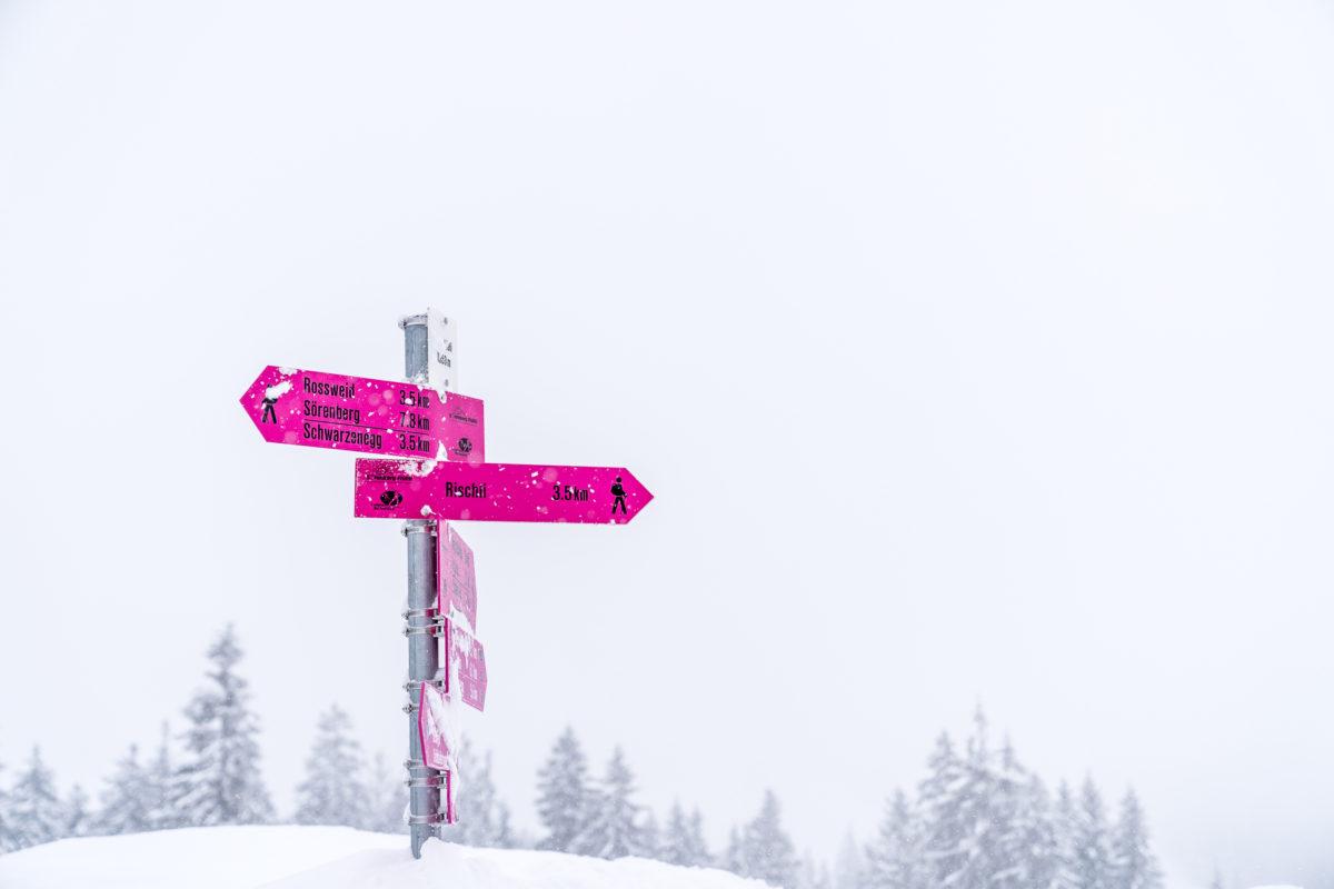 Salwideli Rischli Winterwanderung