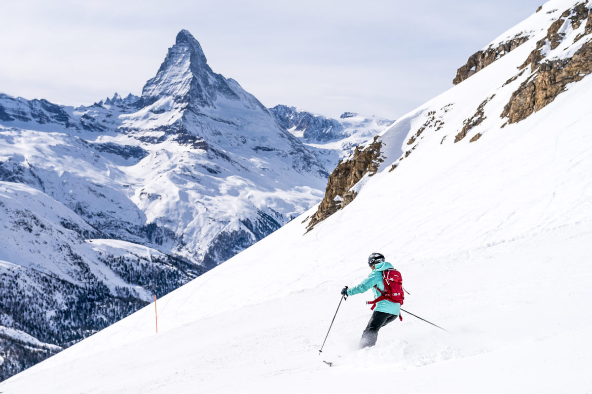 Skifahren in Zermatt Matterhorn