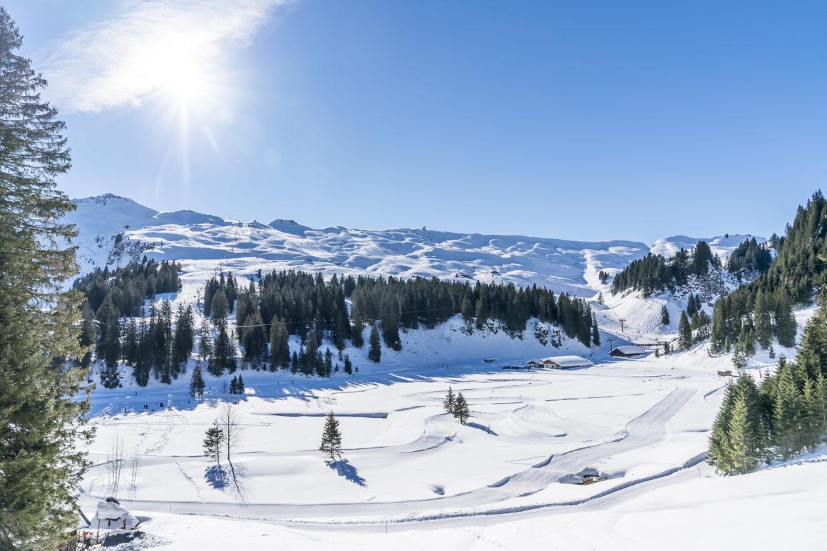 Skigebiet Hoch Ybrig Winter