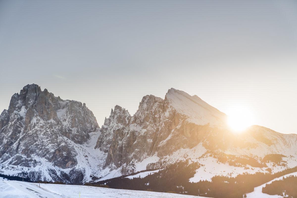 Sonnenaufgang Plattkofel