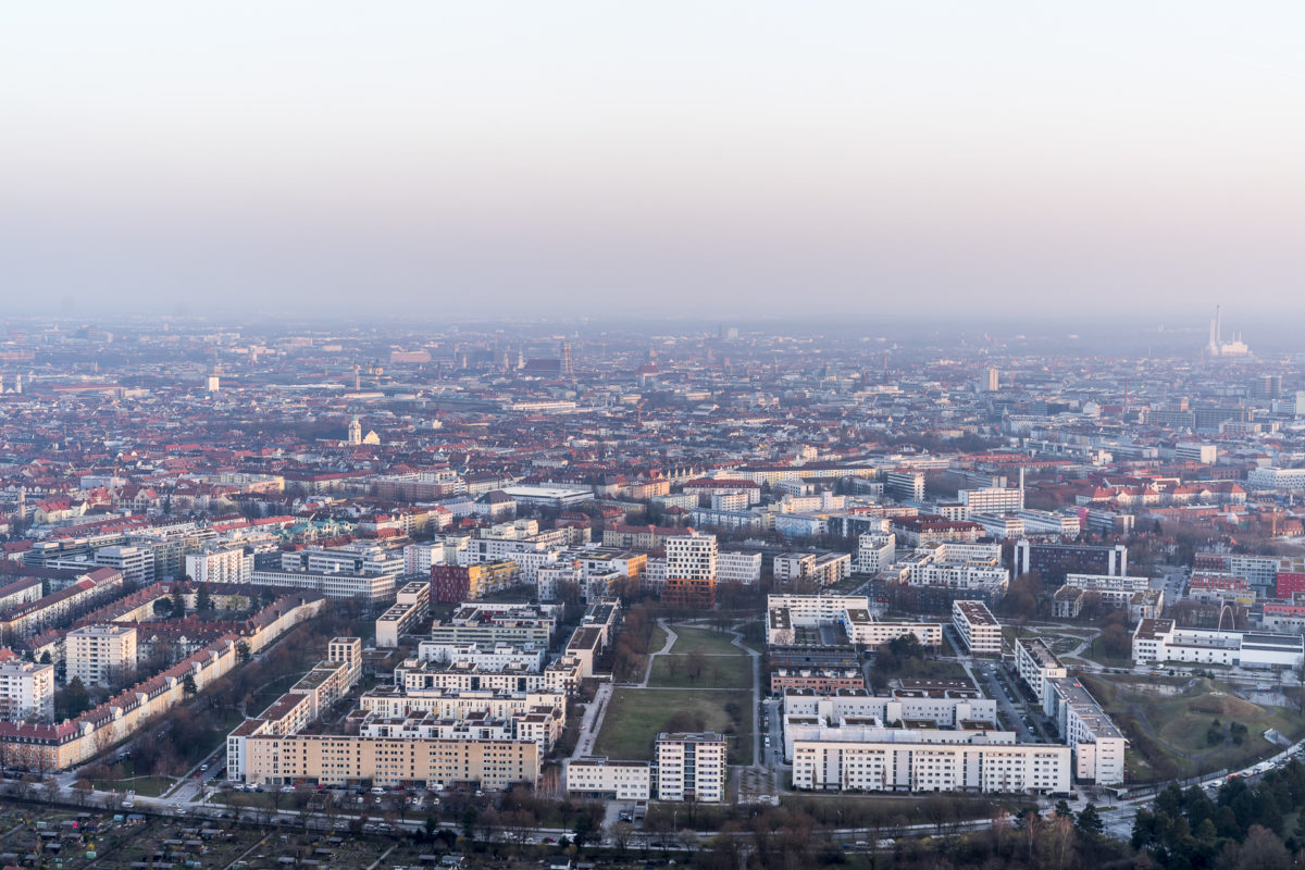 Aussicht Olympiaturm München