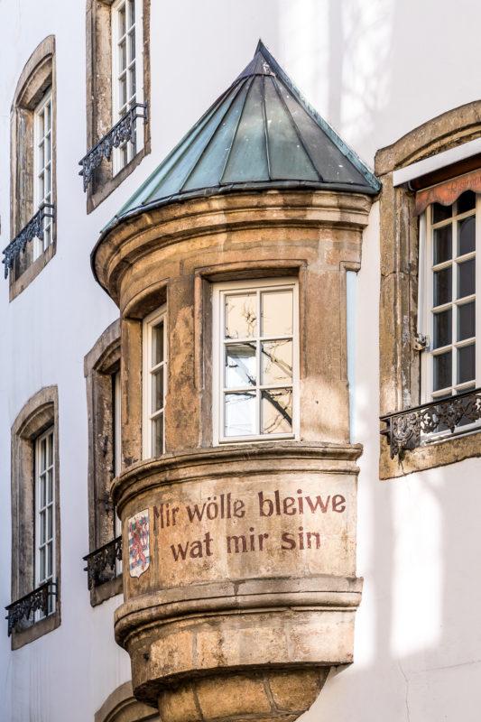 Luxemburg Altstadt Bauten