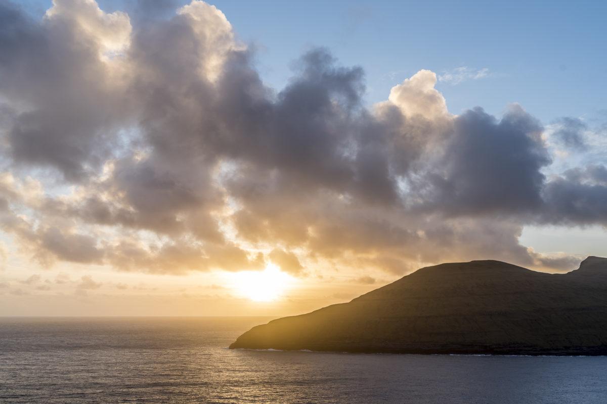 Sonnenuntergang Färöer-Inseln