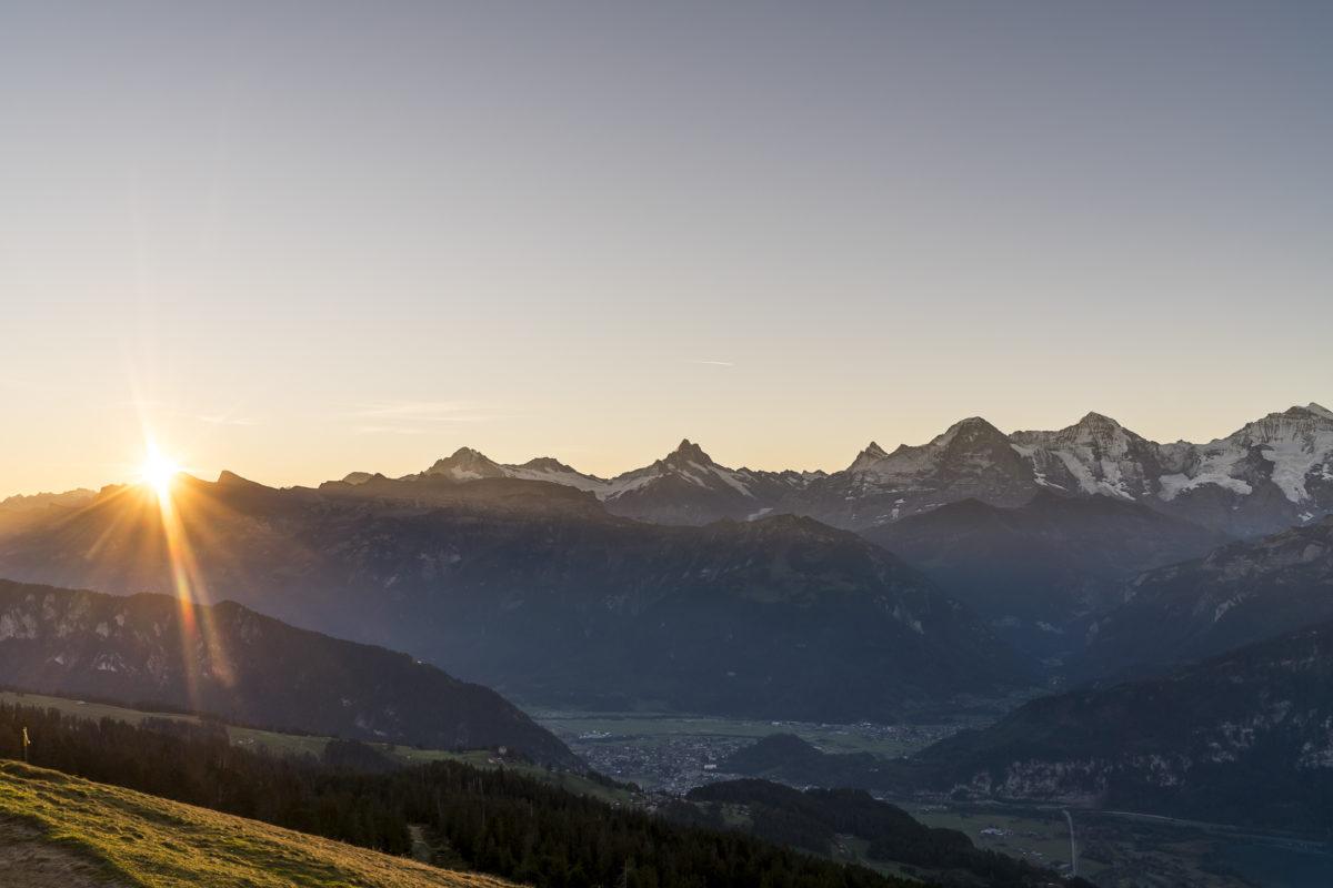 Sonnenaufgang Eiger Münch Jungfrau