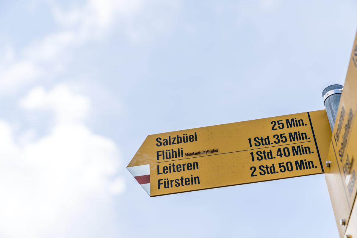 Signalisation Moorlandschaftspfad