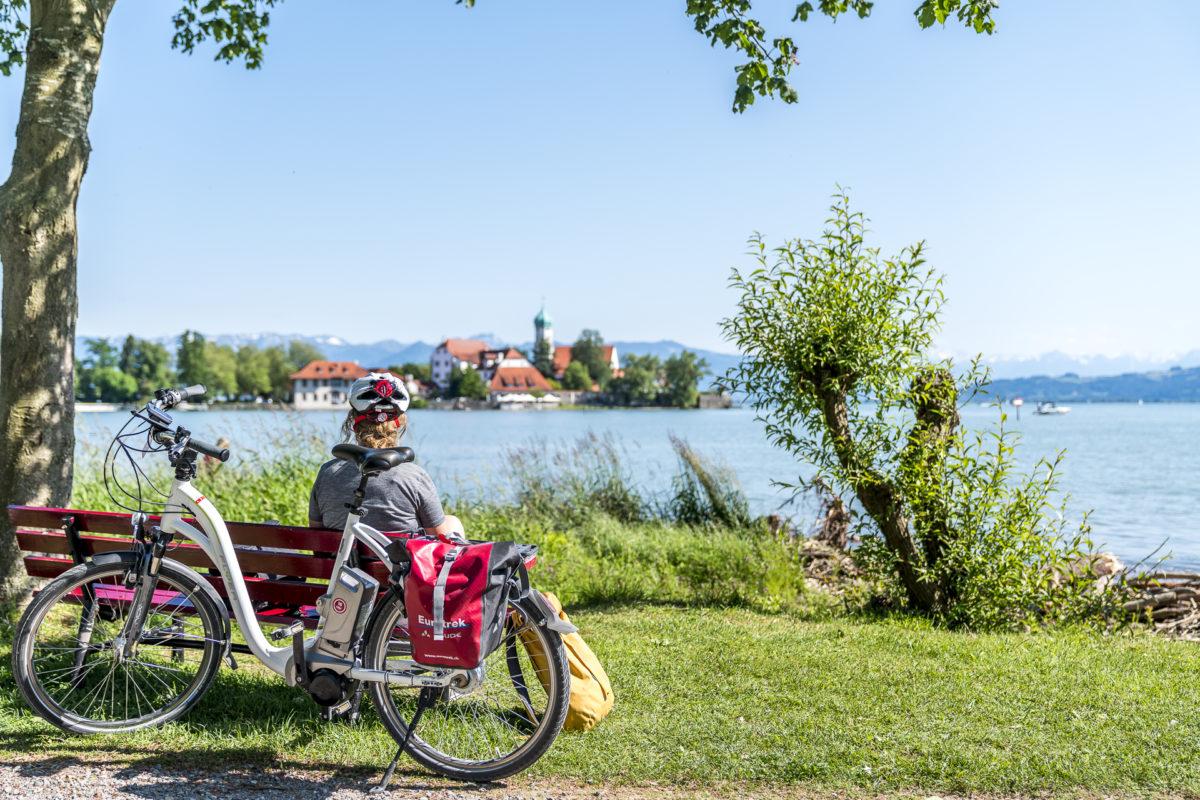 Wasserburger Bucht Bodensee-Radweg Pause