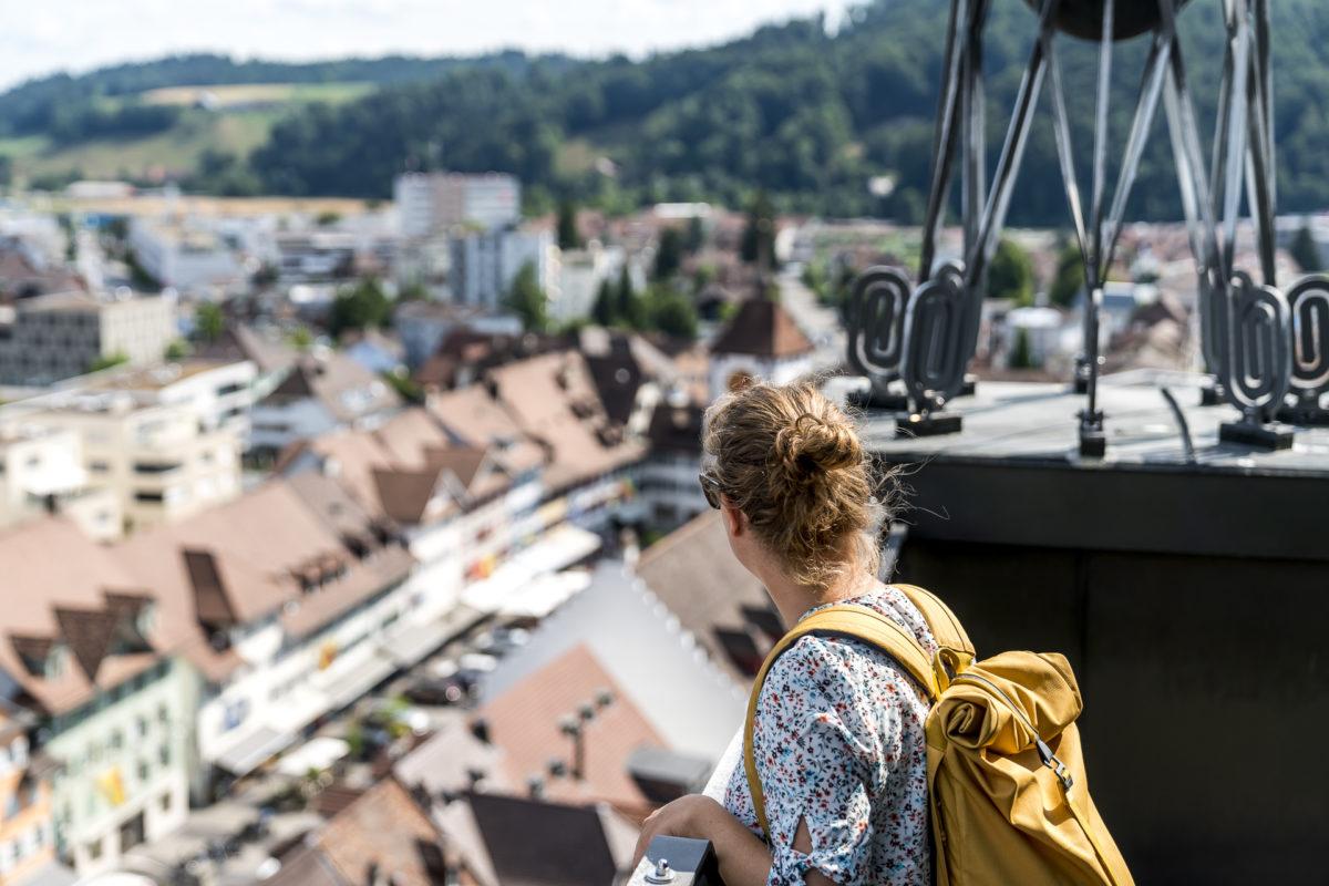 Kirchturm Willisau Ausblick