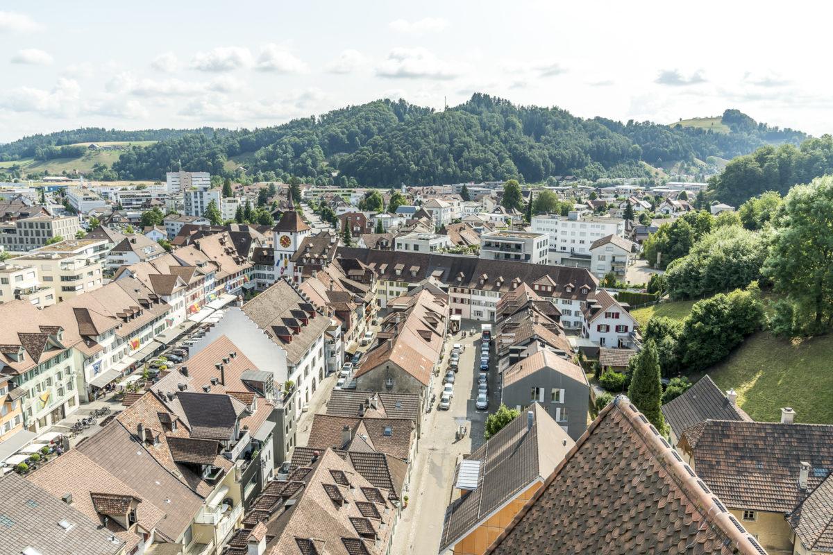 Willisau Blick Altstadt