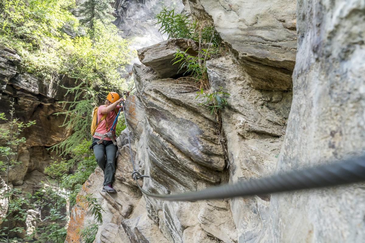 Gorge Alpine Klettersteig Saas-Fee
