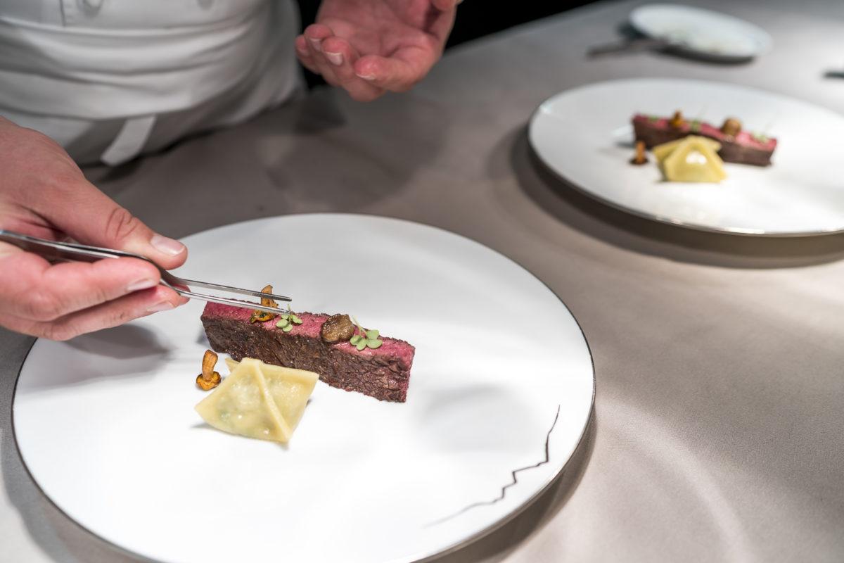 Fine Dining Küche Jardin des Alpes