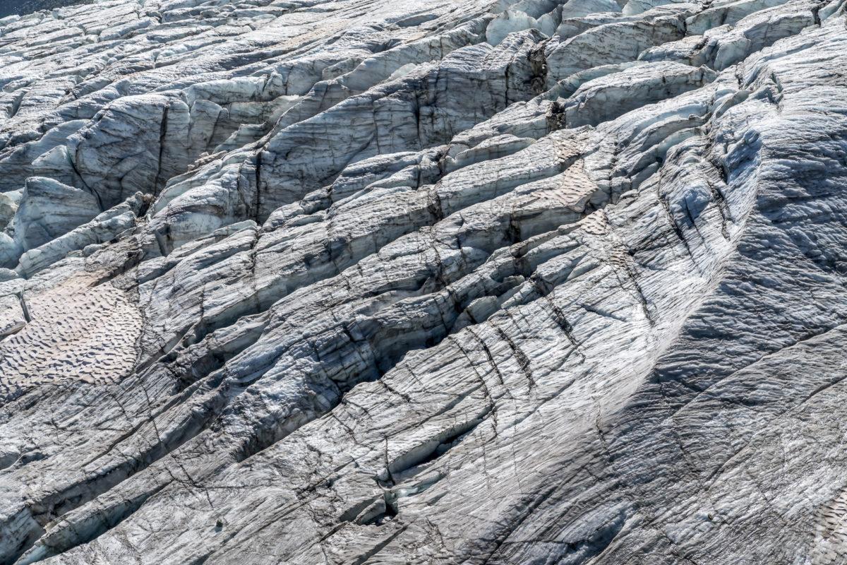 Saas Fee Gletscherlandschaft
