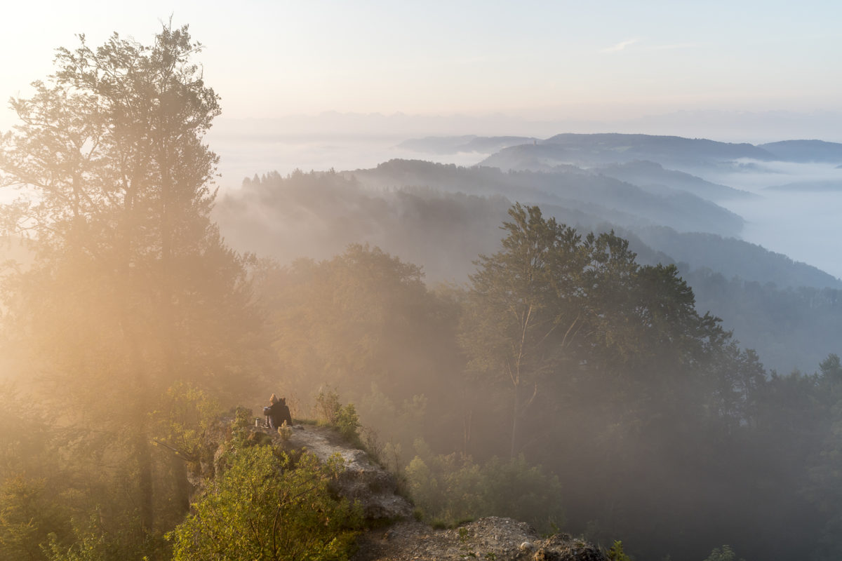 Felsen Sonnenaufgang Uetliberg