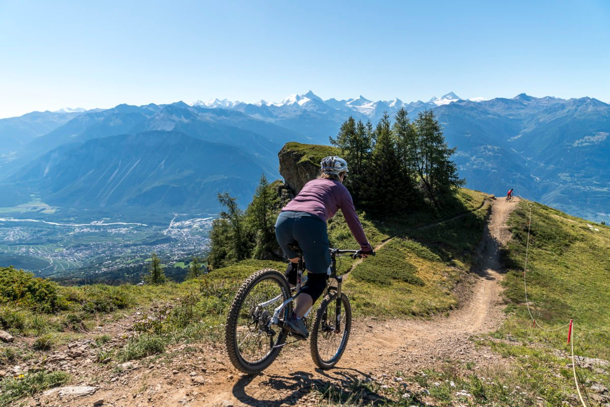 Rote Downhillstrecke Crans-Montana
