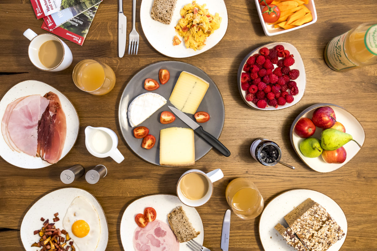 Waldfunkeln Lodge Frühstück