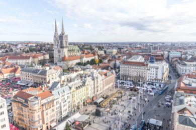 Aussicht Zagreb 360 Oberservation Desk